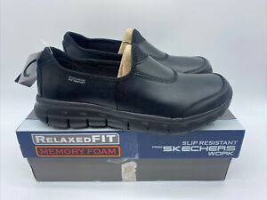 Womens Skechers Work Relaxed Fit Sure Track Shoes Slip Resistant Memory Foam NHS