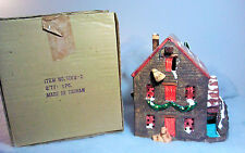 Dept 56 Snow Village Stone Mill House IOB-1980-82 #5068-2-With Oats-Near Mint