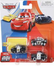 DISNEY CARS METAL MINI RACERS SHERIFF DEPUTIES! APB + OFFICER MCQUEEN! 3 PACK!