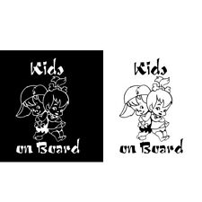 KIDS ON BOARD Baby Children Window Bumper Car Sign Decal Stickers Reflects
