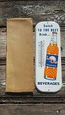 NOS Sun Crest Orange Soda Thermometer Sign Mint Original Box