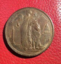 Belgique - Léopold II - Très Joli Module Bronze 1880 - bronze / haut relief