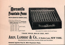 AD LOT OF 3 1900 A ADS AIKEN LAMBERT MERCANTILE PENS COUNTER SHOW CASE JEWELER