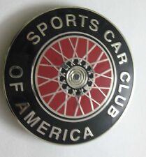 CAR BADGE -SPORTS CAR CLUB OF AMERICA CAR GRILL BADGE EMBLEM MG JAGUAR TRIUMPH