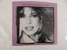 "Carly Simon ""You Know What To Do"" PICTUTE SLEEVE! NICEST COPY ON eBAY!!"