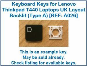 Keyboard Keys for Lenovo ThinkPad T440 Laptops UK Layout Backlit [REF: A026]