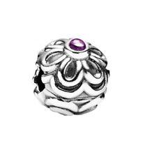 NEW Pandora Zinnia Amethyst Sterling Silver ALE Clip Charm Genuine 790953AM