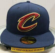 Cleveland Cavaliers~NBA~New Era~59FIFTY~OSB~Navy with Red & Yellow Logo