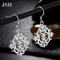 Fashion women cute 925 Silver Earring Jewelry wedding party charms nice gift