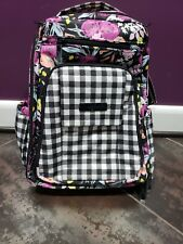 Jujube Be Right Back Brb Diaper Bag Gingham Bloom Nwt