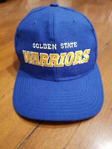RARE GOLDEN STATE WARRIORS Starter NBA Snapback Cap Hat Curry DUBS 80s VINTAGE