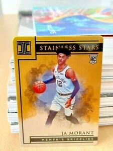 2019-20 Impeccable #11 Ja Morant Stainless Stars GOLD Rookie Rc /10