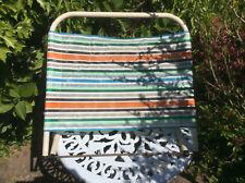 Vintage Retro 1960s 1970s Garden Chair Deckchair Headrest Backrest Multi-Stripes