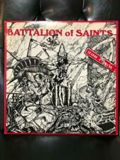 BATTALION OF SAINTS VINTAGE SIGNED SECOND COMING ALBUM        POSTER+LYRIC SHEET