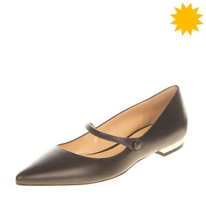 RRP €395 LERRE Leather Mary Jane Shoes Size 37 UK 4 US 7 Metallic Made in Italy