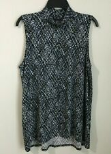 J. Jill Wearever Collection Large Seleeveless Mock Neck Blouse