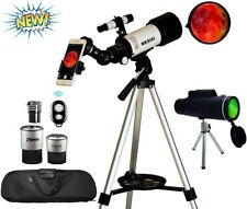 Mesixi Astronomical Telescopes + Monocular Travel Scope 70mm Aperture 400mm Az M