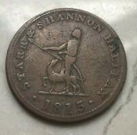 1815 Canada Nova Scotia 1/2 Half Penny Token - Starr & Shannon Halifax