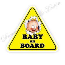 Baby on Board Child Full Color Adhesive Vinyl Sticker Window Car Bumper #072