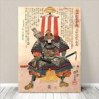 "Awesome Japanese SAMURAI WARRIOR Art CANVAS PRINT 36x24""~ Kuniyoshi  #144"