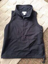 New Women's Cutter & Buck WeatherTec 3/4 Zip Black Clima Guard Wind Vest S/P