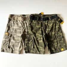 NWT Lee Men's Wyoming Cotton Camo Belted Cargo Shorts Cell phone Pockets All Siz