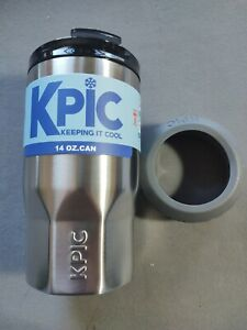 KPIC 14 oz. HOT COLD Stainless Steel Tumbler Glass Thermos Cup Drink Can  NEW