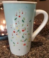 Starbucks Tall Green Blue Christmas Tree Coffee Cocoa Mug Cup 2019 Holiday 16 oz