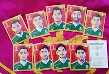 Panini RUSSIA 2018 - COCA COLA Extra Stickers - MESSICO MEXICAN version  CC1 CC9