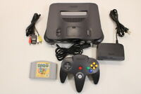 NINTENDO 64 Black Cracked Console Yoshis Story Cont 7/10 N64 REGION FREE J720