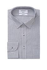 NEW Van Heusen Stripe Business Shirt Black