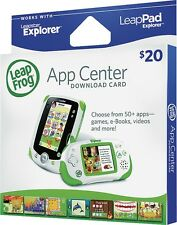 $20 - LEAPFROG APP CENTER DOWNLOAD CARD FOR LEAPSTER EXPLORER & LEAPPAD EXPLORER