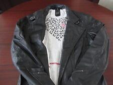 schwarzer Damen-Ledermantel, Größe S, 1x getragen - gekauft bei Karstadt
