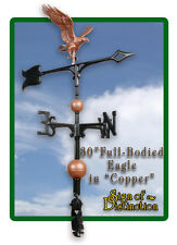 "Whitehall 30"" Eagle Weathervane Full-Bodied Copper Color Ships SAME Day & FREE"