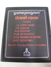 ATARI VCS 2600 STREET RACER ORIGINAL LOOSE VERY RARE