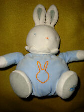 H# # DOUDOU LAPIN KLORANE gris bleu orange 28 cm  , TBE!!!