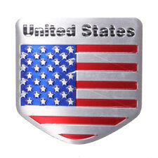 Hot US USA American Flag Metal Auto Refitting Car Badge Emblem Decal Sticker