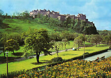 Postcard  Scotland  Edinburgh Castle from Princes Street gardens  posted  Dixon