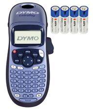 Dymo LetraTAG LT-100H Beschriftungsgerät Tast ABC Drucker Schriftb.LT12mm + 4 AA