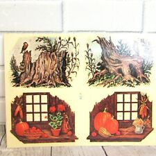 Vintage Water Transfer Decals Stumps & Pumpkins Meyercord Rc-7 Nature Autumn