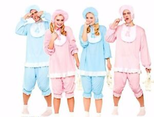 Adult BIG CRY BABY COSTUMES Cute Mens Ladies Stag Hen Party Fancy Dress Romper