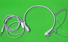 FBI Style Earphone Throat Mic Noise Reduce Headset For Apple iPhone 3.5mm White