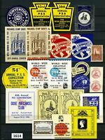 Dealer Dave Cinderella Stamps BEAUTIFUL GROUP OF POSTER STAMPS, LABELS (1614)