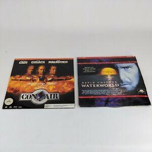 Laserdisc Lot of 2 Movies Waterworld and Con Air Kevin Costner Nicolas Cage