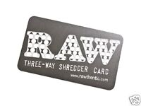 RAW Three Way Shredder / Grinder Card