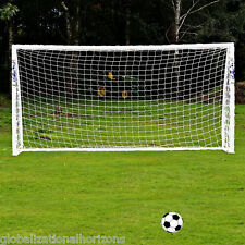 Full Size 12x6FT Football Soccer Goal Post Net Sports Training Practise Junior