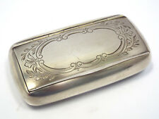 Antique Swedish Solid 830 Silver Engraved Floral Design Snuff Box, No Monogram