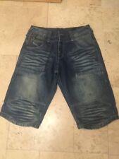 Jack& Jones Men's Fade Dark Blue Jeans Shorts  UK XL
