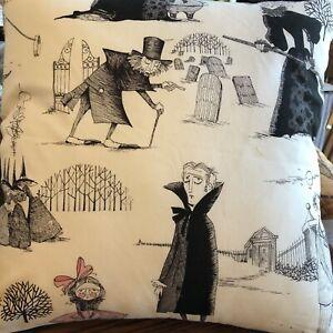 "Halloween Pillow New Handmade.  Ghastlie Fabric By Alexander Henry.  16"" square"