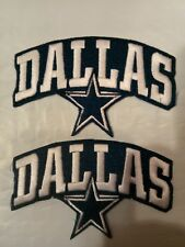 "(2 ) Dallas Cowboys vintage embroidered iron on PATCH LOT Patches 4""x 2 1/2"""